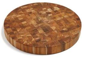 Proteak Teakhaus by Butcher Block Circle End-Grain Cutting Board