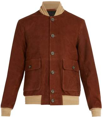 Oliver Spencer Gandy suede bomber jacket