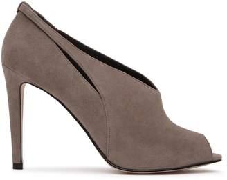 Reiss Dalida Suede Peep-Toe Heels