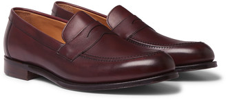 Cheaney Hadley Suede Penny Loafers - Men - Burgundy