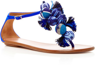 Tropicana Embellished Suede Sandals