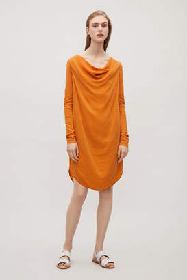 Cos DRESS WITH DRAPED NECK