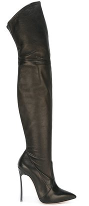 Casadei thigh-length high boots $1,397 thestylecure.com