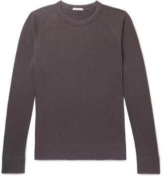 James Perse Loopback Supima Cotton-Jersey Sweatshirt - Men - Purple