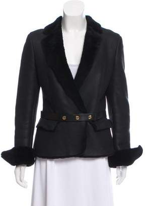 Gucci Belted Shearling Jacket