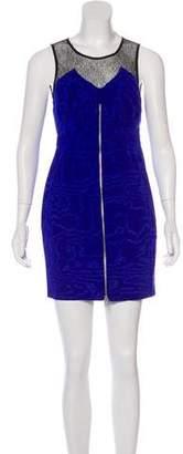 Ali Ro Lace-Paneled Mini Dress w/ Tags