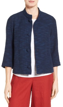 Women's Eileen Fisher Rys Woven Cotton Jacket $328 thestylecure.com