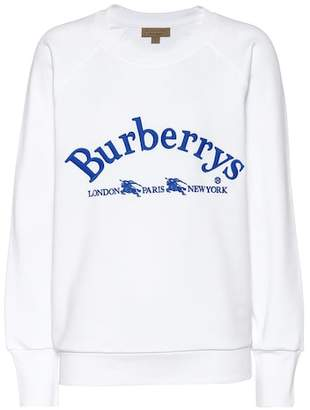 Burberry Embroidered cotton sweatshirt