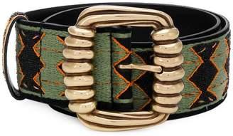 Etro woven patterned belt