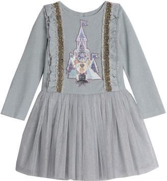 Pippa Disney X & Julie Disney Frozen Castle Glitter Tutu Dress Size 4-8