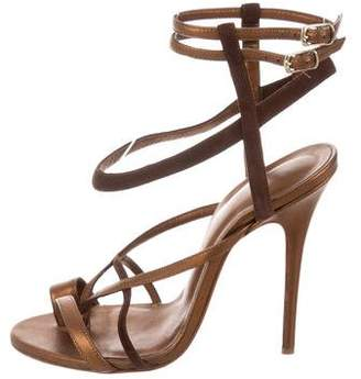 Jean-Michel Cazabat for Sophie Theallet Metallic Leather Sandals