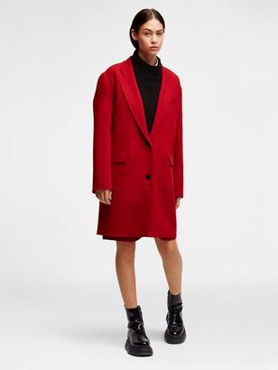 Wool Notch Collar Coat $798 thestylecure.com