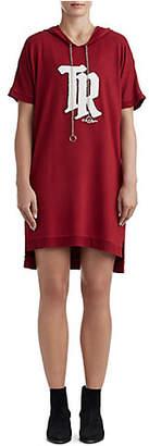 True Religion WOMANS DOLMAN HOODIE SHIFT DRESS W/ CHAIN