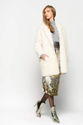 Pinko Lavare Faux-Fur Coat