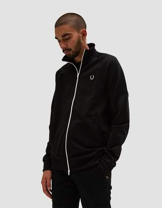 Fred Perry X Laurel Wreath Reverse Tricot Track Jacket in Black
