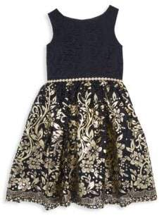 Baby's, Little Girl's & Girl's Metallic Floral Dress