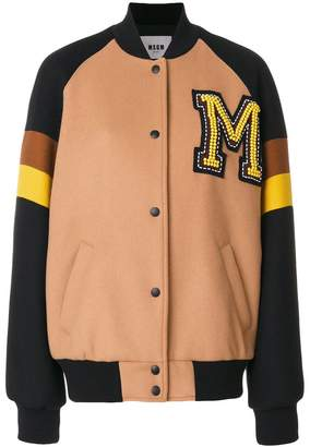 MSGM college bomber jacket
