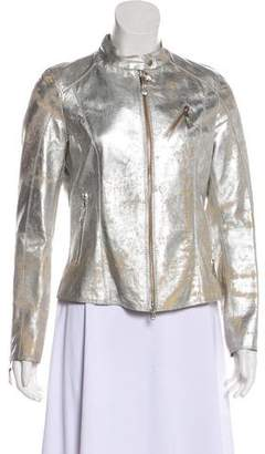 Gimo's Italiana Silk-Blend Biker Jacket