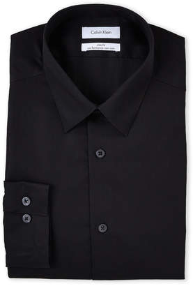 Calvin Klein Black Slim Fit Performance Non-Iron Dress Shirt
