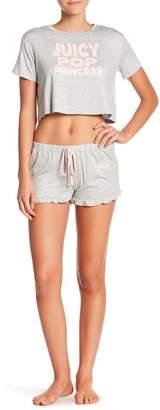 Juicy Couture Short Sleeve Tee & Shorts Pajama Set