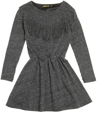 Finger In The Nose Cotton Jersey Dress W/ Fringe