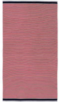Pottery Barn Mini Stripe Beach Towel - Red/Navy