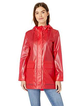 Levi's Ladies Outerwear Women's Midlength Rubberized PU Swing Rain Parka Jacket