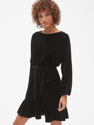 Gap Velvet Tie-Waist Dress