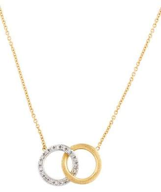 Marco Bicego 18K Diamond Circle Link Pendant Necklace
