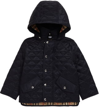 Burberry Ilana Diamond Quilted Hooded Jacket