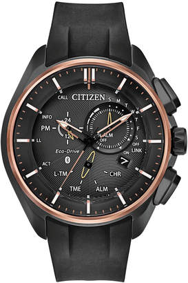 Citizen Eco-Drive Men's Chronograph 100th Anniversary Proximity Pryzm Black Polyurethane Strap Watch 48mm - A Limited Edition