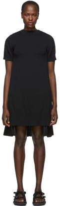 Sacai Black Knit Shirting Dress