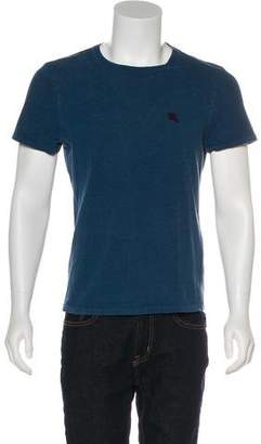 Burberry Embroidered Short Sleeve T-Shirt