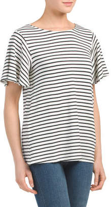 Made In USA Cut Out Back Striped Top
