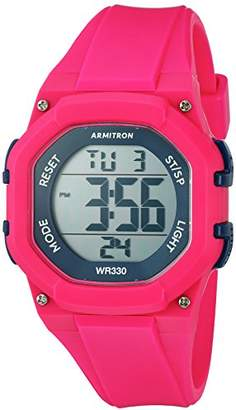 Armitron Sport Women's 45/7080MAG Navy Blue Accented Digital Chronograph Hot Resin Strap Watch