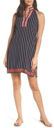 THML Embroidered Print Shift Dress