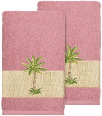 Linum Home Textiles Colton Embellished Hand Towel Set
