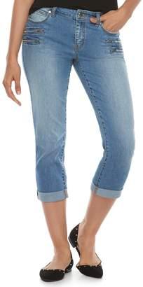 JLO by Jennifer Lopez Women's Zipper Accent Capri Pants