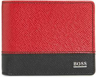 BOSS Embossed Leather Wallet