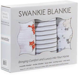 Swankie Blankie 3-Piece Swaddle Blanket Box Set