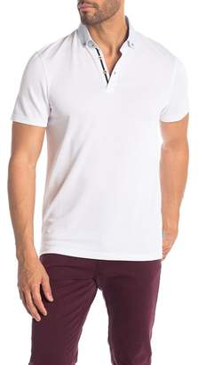 Ted Baker Woven Collar Short Sleeve Polo