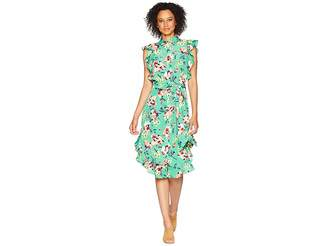 Lauren Ralph Lauren Floral Crepe Sleeveless Dress Women's Dress