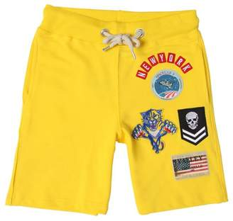 Fred Mello Patches Cotton Sweat Shorts