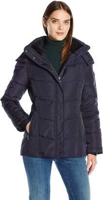 Calvin Klein Women's Down Puffer Short Coat with Hood