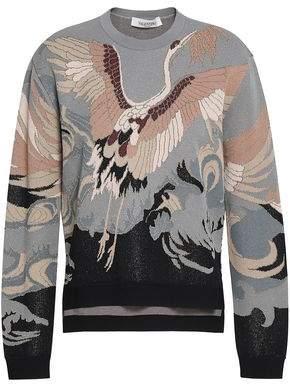 Valentino Metallic Jacquard-knit Sweater