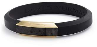 David Yurman Men's Forged Carbon Rubber ID Bracelet with 18K Gold