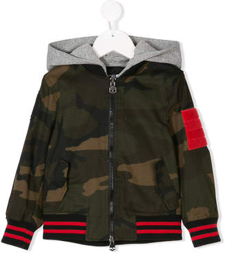 Hydrogen Kids contrast-trim camouflage jacket