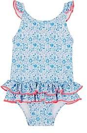 Sunuva Floral One-Piece Swimsuit-Blue