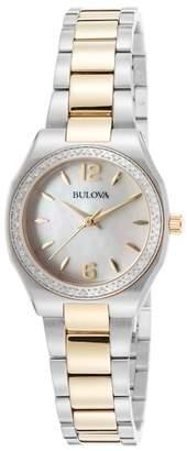Bulova Women&s Diamond Bracelet Watch - 0.23 ctw $599 thestylecure.com