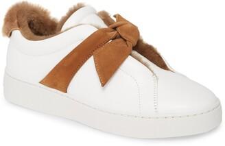 Alexandre Birman Clarita Bow Genuine Shearling Lined Sneaker